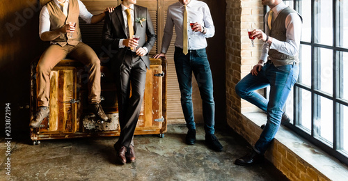 Fotografie, Obraz  Group of handsome elegant young men