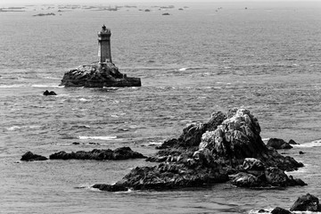 Latarnia morska na Finisterre, Bretania, Francja