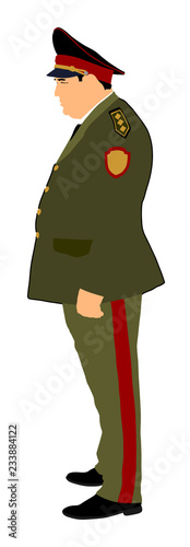 Photo Soviet army officer in uniform vector illustration