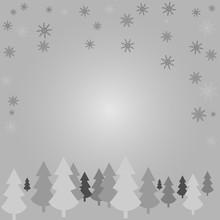 White Silhouettes Of Trees Aga...