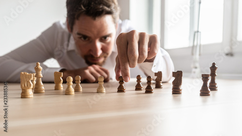 Cuadros en Lienzo Businessman creating business strategy