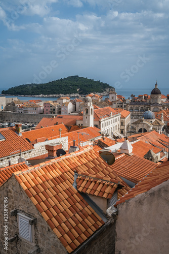 Fototapety, obrazy: Rooftops of old houses in Dubrovnik