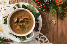 Traditional Mushroom Soup, Mad...