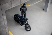 Vintage Rebuilt Motorcycle Mot...
