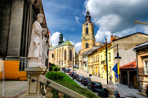 Obraz  Roman Catholic cathedral, the main church of the Archdiocese of Przemysl, located at the Cathedral Square in the Old Town. Przemysl, Poland. 29-07-2016 - fototapety do salonu