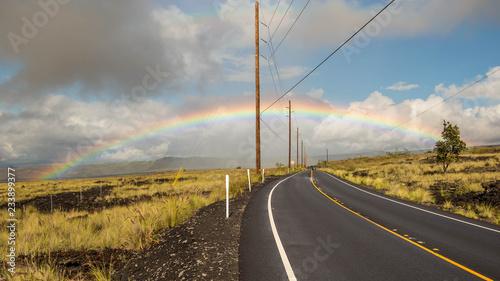 Spoed Foto op Canvas Verenigde Staten Regenbogen auf Big Island, Hawaii