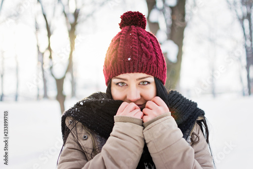 c4b03329da0 Young woman in winter outfit