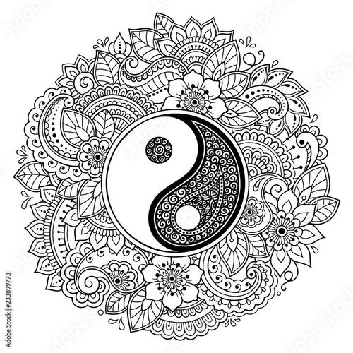 Circular Pattern In Form Of Mandala For Henna Mehndi