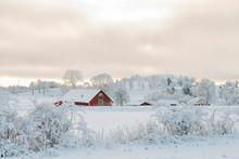 Farmhouse In An Idyllic Winter...