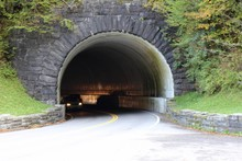 The Tunnel Road On The Highway In The Mountains.