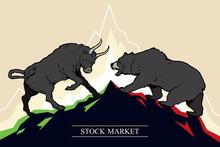 Bull And Bear, Symbols Of Stoc...