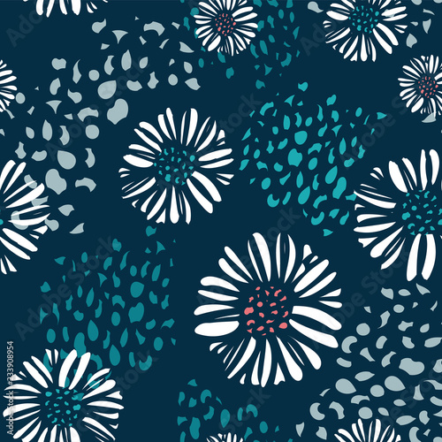 Valokuva  Seamless vector floral background pattern