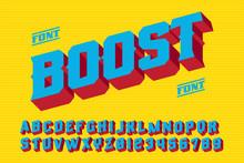 Boost 3D Vintage Letters