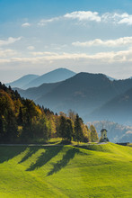 Green Pasture And Mountains, P...