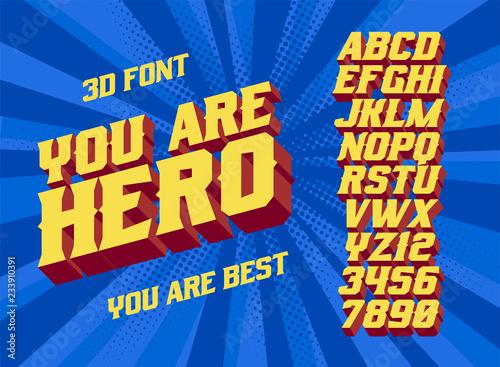 You are Hero 3D vintage letters Fototapeta
