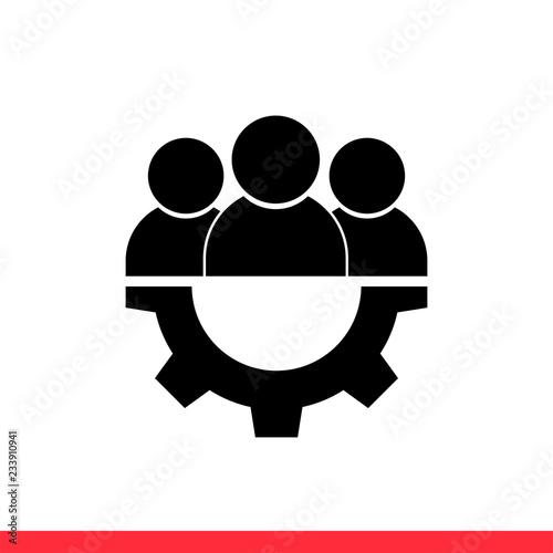 Fototapety, obrazy: Teamwork icon symbol, vector illustration