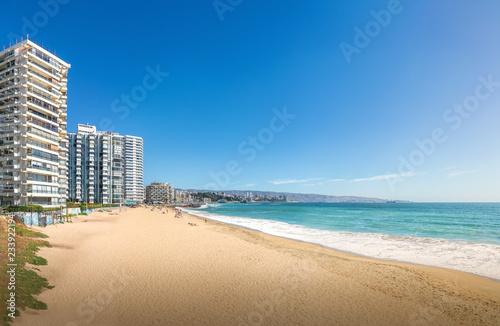 Fotografija  Panoramic view of Acapulco beach - Vina del Mar, Chile
