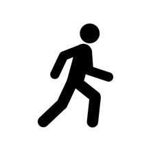 Walking Man Symbol. Pedestrian...