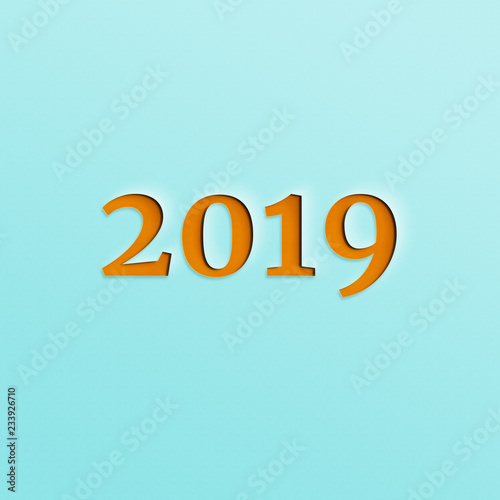 Fototapeta Nowy rok 2019 obraz