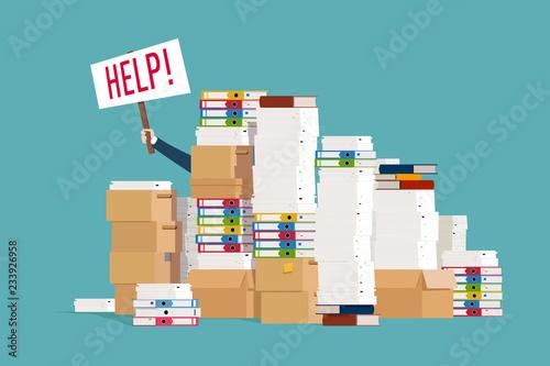Fotografía Man asks for help with paperwork