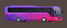 Big Tour Bus. Flat Vector Illu...