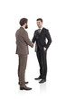 Two businessmen shaking hands isolated