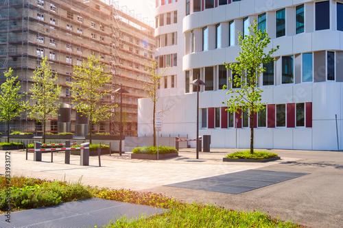 In de dag Stad gebouw moderne Gebäude in der Stadt Baustelle