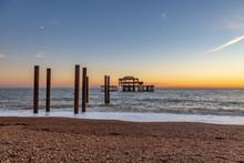 Brighton's West Pier At Sunset...