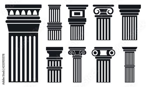 Column icon set Fototapeta
