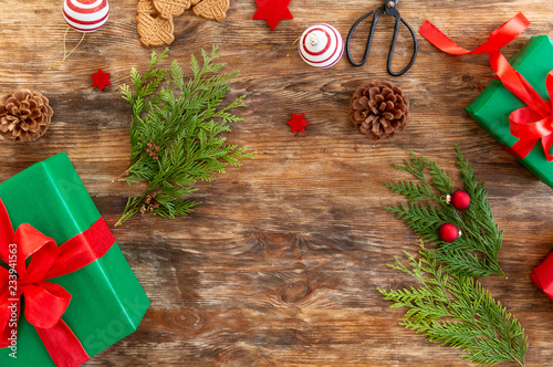 Christmas Gift Wrapping Station.Diy Gift Wrapping Beautiful Green Christmas Gifts With Red