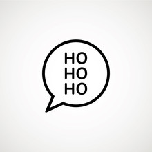Christmas Speech Bubble With H...