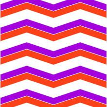 Violet And Orange Chevron Pattern Background