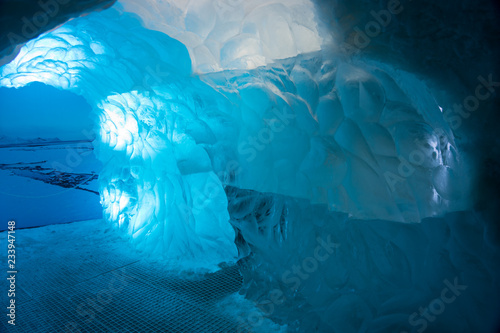 Foto  In der Gletscherhöhle - im Eisberg / Island