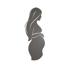Pregnant Woman Symbol, Stylize...