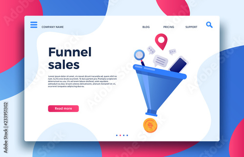 Funnel sales Fototapet