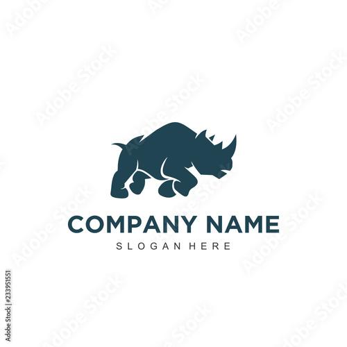 Fotomural Simple minimalistic modern professional logo design rhino vector EPS illustrator