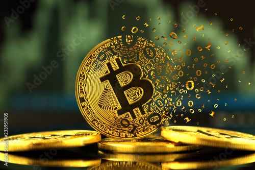 Bitcoin with dispersion effect Wallpaper Mural