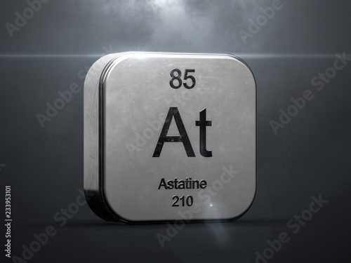 Photo Astatine element from the periodic table