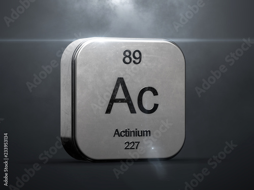 Actinium element from the periodic table Canvas Print