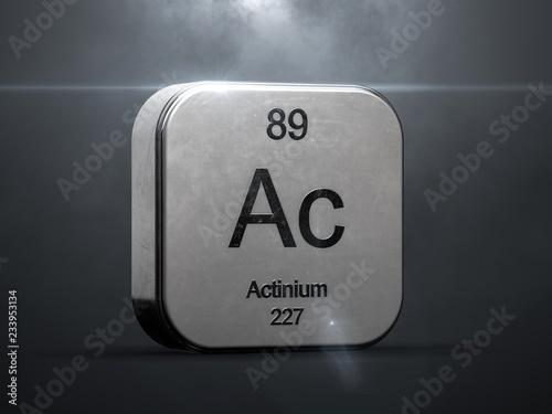 Photo Actinium element from the periodic table