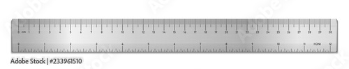 Fotografie, Obraz Realistic metal tape ruler isolated on white