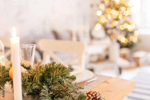 Fotografía  Christmas table setting