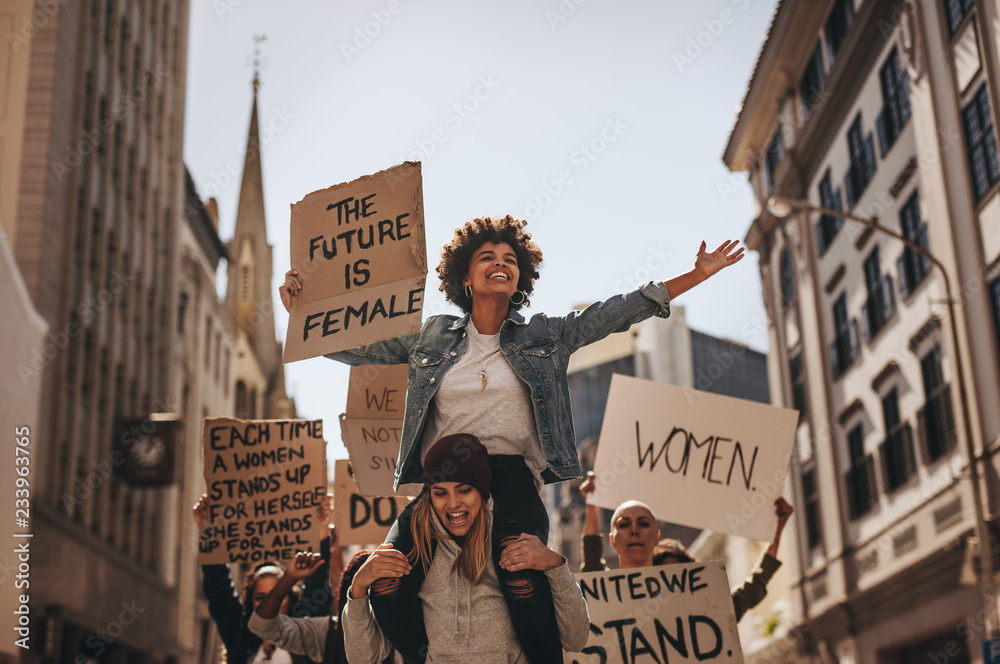 Fototapety, obrazy: Demonstration of the future is female