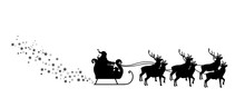 Sled Of Santa Claus With Reind...