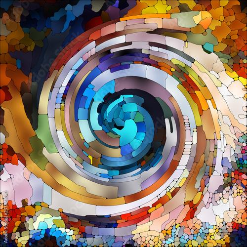 Fotografie, Obraz  Inner Life of Spiral Color