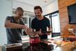 Gay Couple Preparing Brigadeiro Dessert at Home