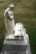 Tombstones For A   Child Or Infant  With Angels And Figures In Victorian Graveyard