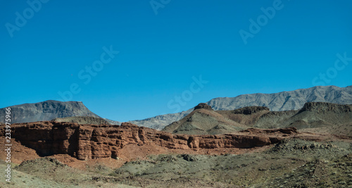 Staande foto Blauwe jeans Eastern Arizona rocky landscape in the desert