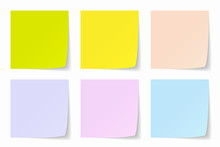 Color Post-it Background, Vect...