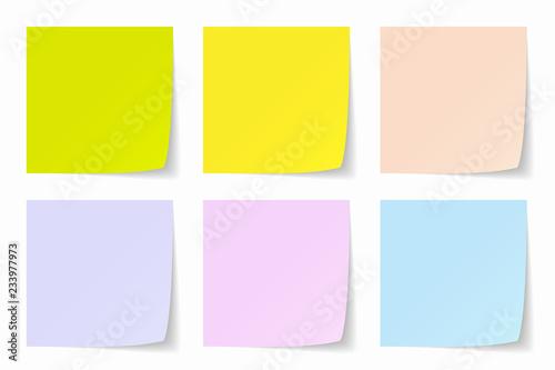 Obraz Color Post-it Background, Vector Graphics - fototapety do salonu